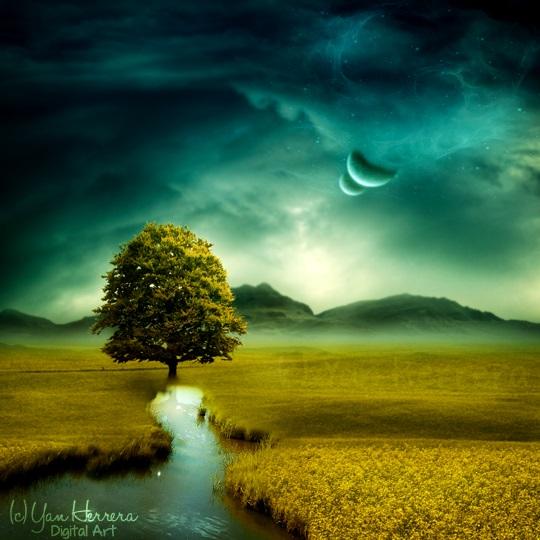 Sophia's landscape by BerryBlu
