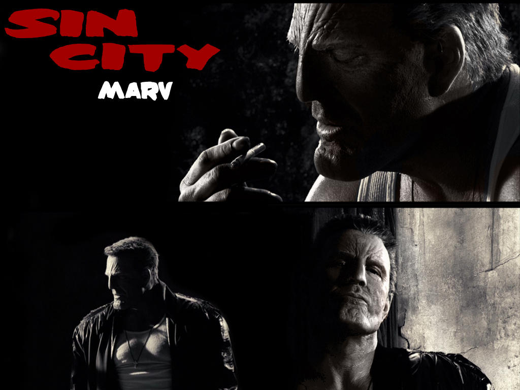 Marv - Sin City Fan Wallpaper by Shagohod88 on deviantART
