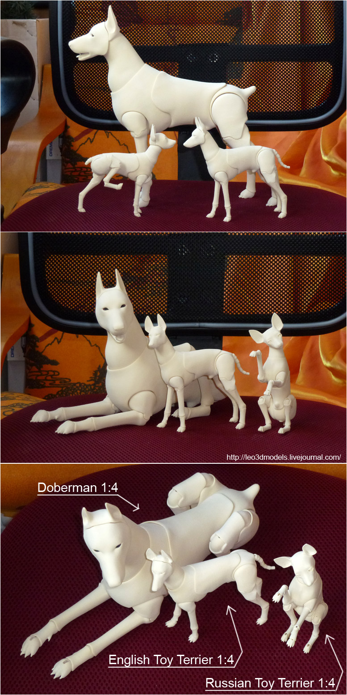 Bjd dogs 04 by leo3dmodels