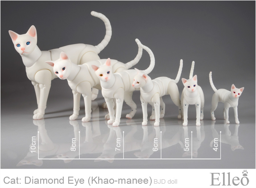 Khao-manee Cat Bjd 02 by leo3dmodels