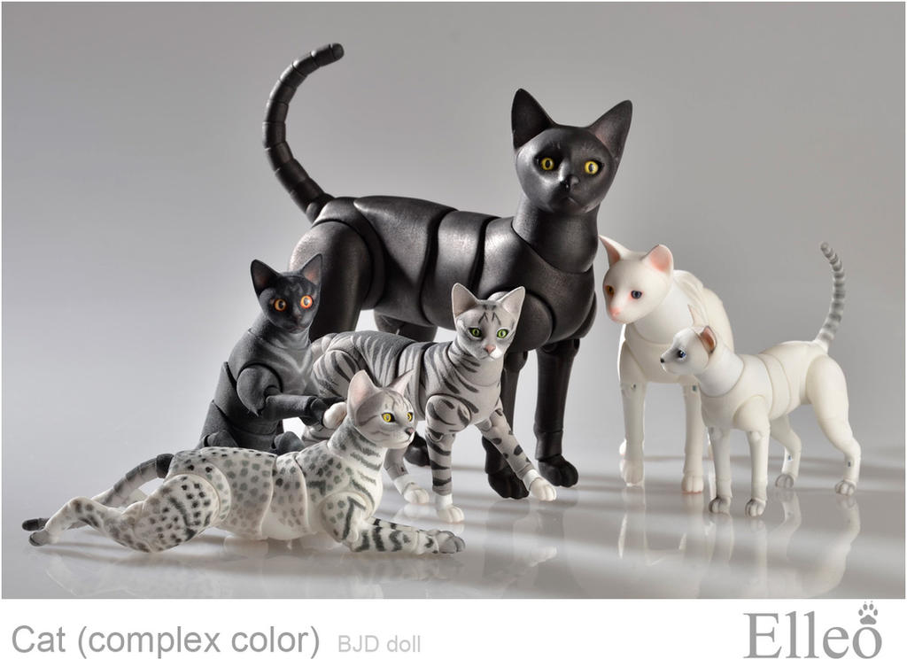 Bjd Cat Elleo by leo3dmodels