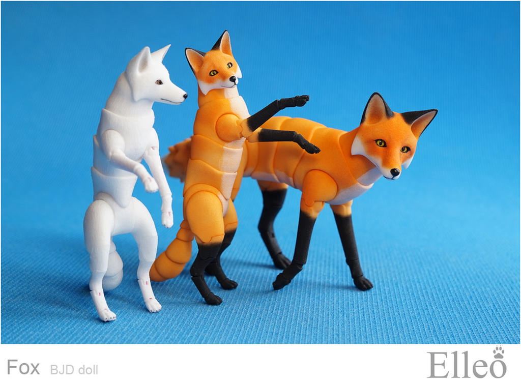 Fox bjd doll 03 by leo3dmodels
