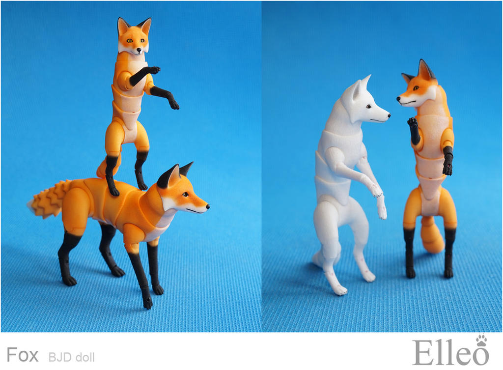 Fox bjd doll 04 by leo3dmodels