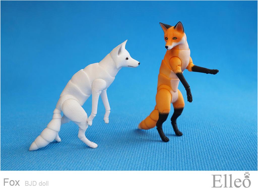 Fox bjd doll 09 by leo3dmodels