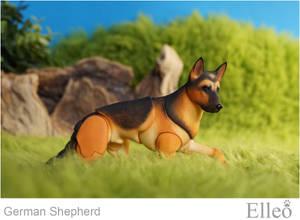 German Shepherd bjd doll 08