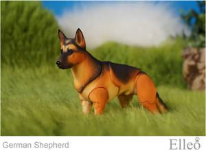 German Shepherd bjd doll 02