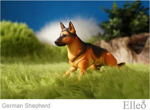 German Shepherd bjd doll 06