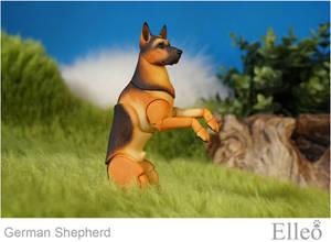 German Shepherd bjd doll 07