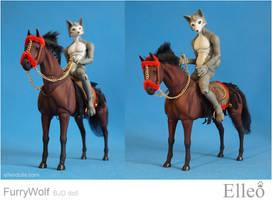 Furry wolf bjd doll 10