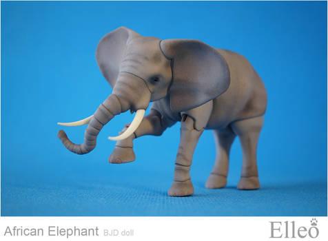 African elephant bjd doll 01