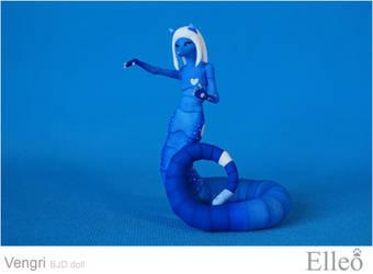 Vengri snake fox bjd doll 11