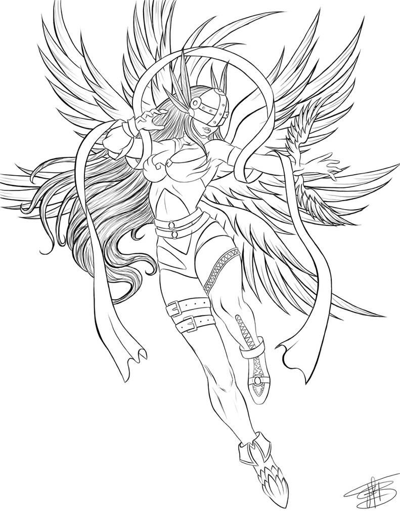 Angewomon-line by Shisaichi on DeviantArt