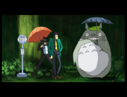 totoro and lupin by keera555