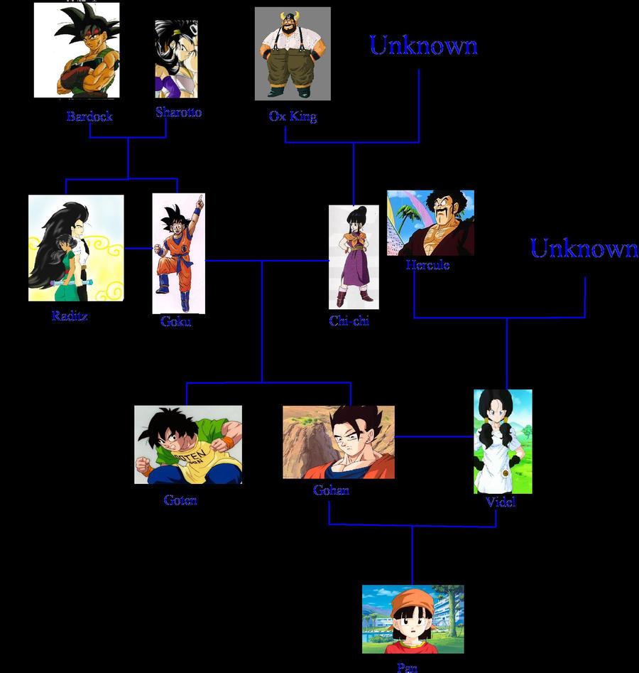 Goku's family tree by ihateu3 on DeviantArt
