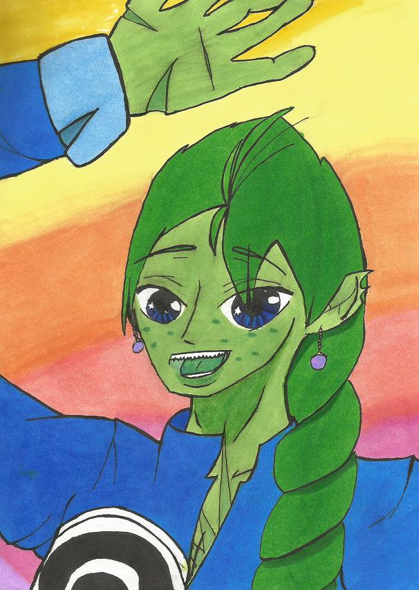 Aoi The REBOOTED Green Saiyan by ihateu3