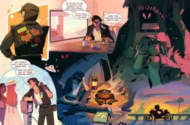 Cryptid hunter- sketchpage comm