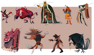 OCTOBER BIG BATCH... SPOOPY!- CLOSED THANK YOU by Cate-adoptables