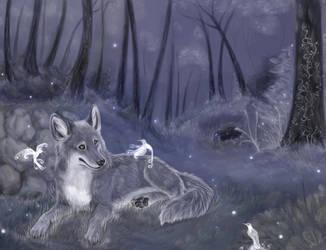 The wolfis and fairiebirds by daisy7