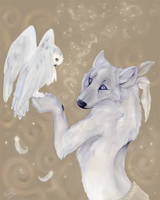 Wolf and Owl by daisy7