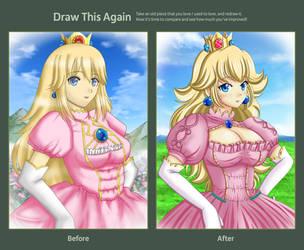 Draw this Again : Princess Peach by Artemisumi