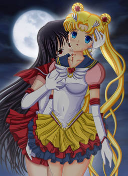 Sailor Mars X Eternal Sailor Moon