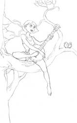 banjo gal by emstone