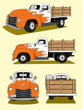 old pickup turnaround