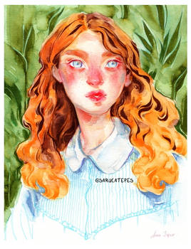 August- Watercolor Painting
