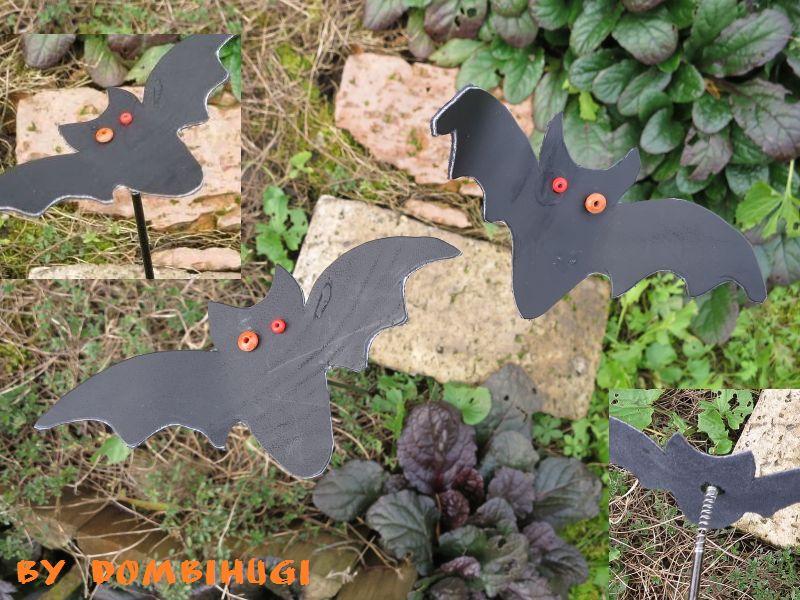 Bat flower pot stick by DombiHugi