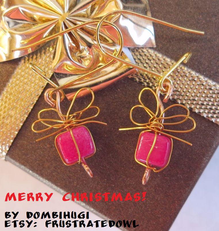 Christmas Giftbox Earrings by DombiHugi