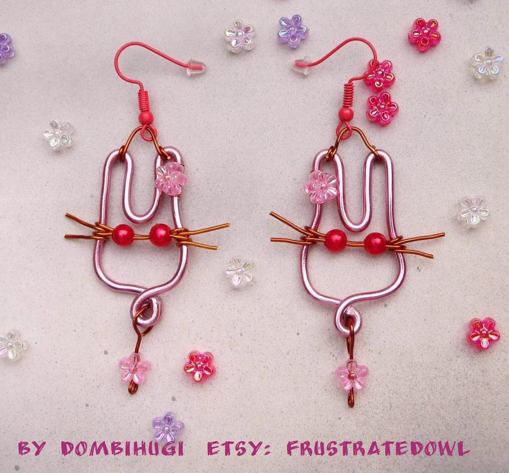 Easter Bunny earrings by DombiHugi