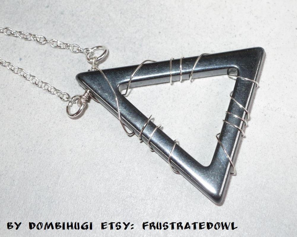 Hematite triangle pendant by DombiHugi