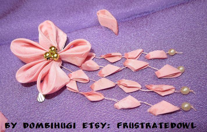 Sakura kanzashi hair clip by DombiHugi