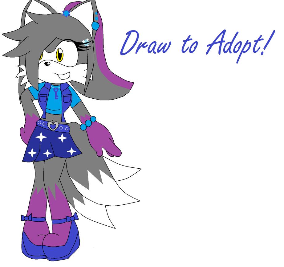Cute Girl Drawings Draw to Adopt Cute Fox Girl
