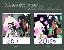Draw this Again Meme: Pearl and Marina