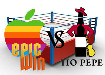 Apple vs Tio Pepe