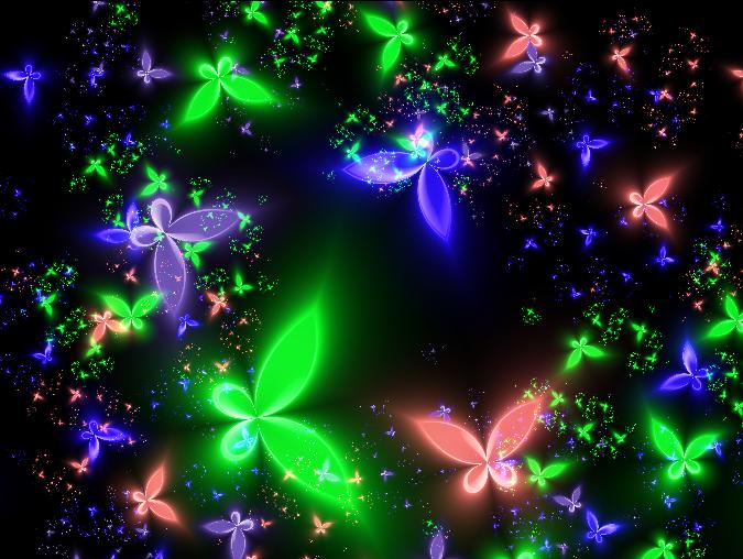 Neon Butterflies by De... Neon Butterfly Wallpaper