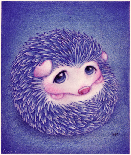 kreslený ježek