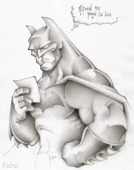 Batman sketch by faboarts