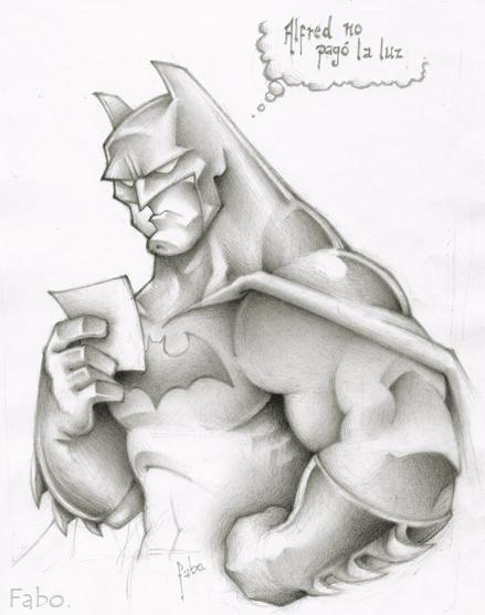 Batman sketch by faboarts
