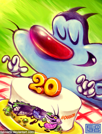 Oggy and the Cockroaches 20 years
