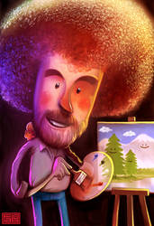 Bob Ross by faboarts