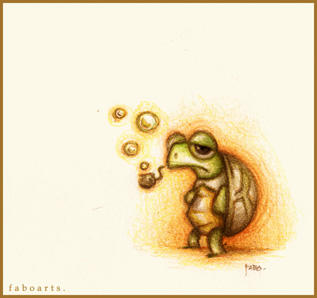 Su pipa de burbujas. by faboarts