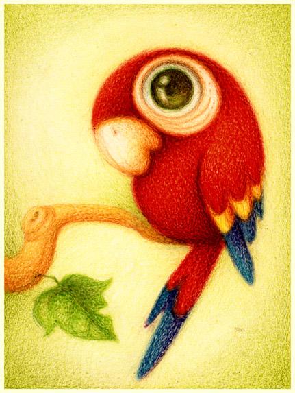 Guara roja. by faboarts