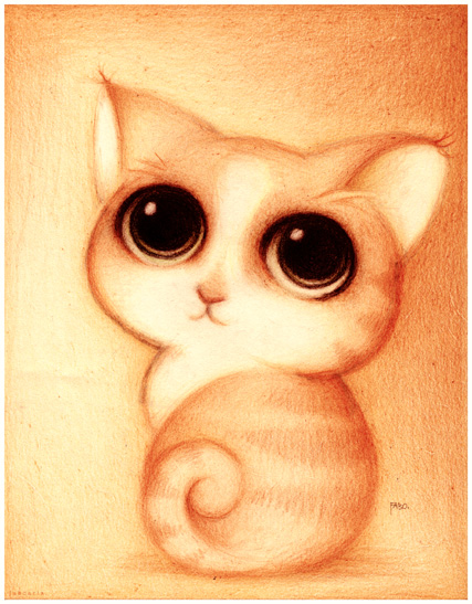 Un gato. by faboarts
