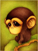 Chimpance. by faboarts