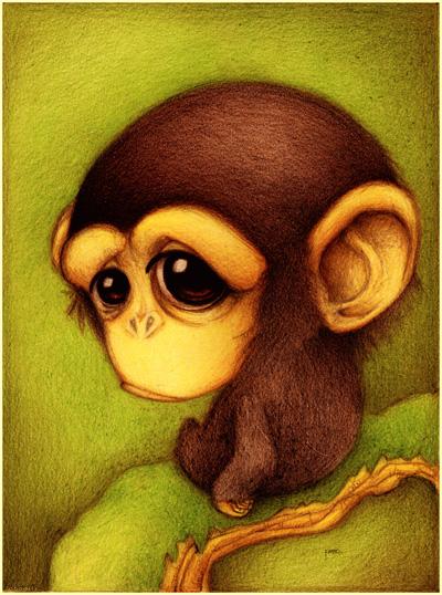 Šimpanz kreslený