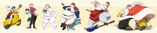 FLCL Progressively Fatter by Jeetdoh