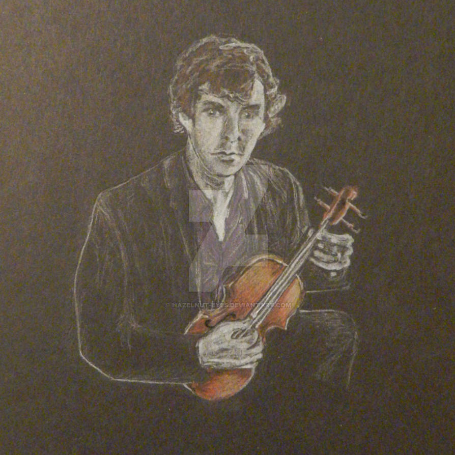 Sherlock on the Violin by Hazelnut-Eyes