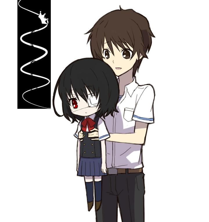 Kouichi Sakakibara and Misaki Mei render by baka-ouji24Another Kouichi And Misaki